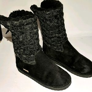 Muk Luks Skylar Black Mid-calf Boots 8